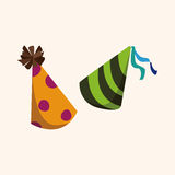 Birthday hat theme elements vector,eps Royalty Free Stock Photos