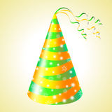 Birthday hats background Stock Images
