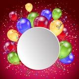 Birthday holiday card Royalty Free Stock Image