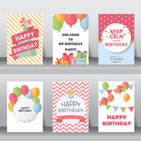 Birthday, holiday, christmas greeting and invitation card Royalty Free Stock Images