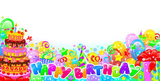 Birthday horizontal composition Stock Images