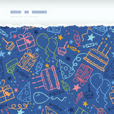 Birthday horizontal torn seamless pattern Stock Photography