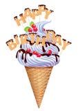 Birthday ice cream Royalty Free Stock Image