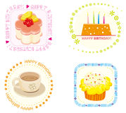 Birthday icon. Illustration of Birthday dinner icon ,Milk tea,cakes Stock Photos