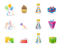 Birthday icon. Some birthday icons for design Stock Images