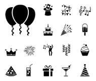 Birthday icon set vector illustration