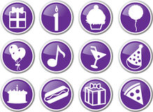 Birthday icon set Stock Photo