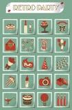 Birthday icon set vector Stock Image