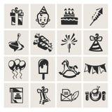 Birthday. Icon set in the . Vector illustration Stock Illustration