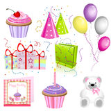 Birthday icons Stock Photos