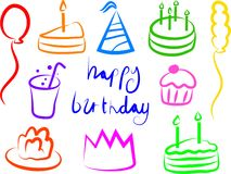 Free Birthday Icons Stock Image - 202031