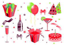Birthday icons Royalty Free Stock Photos