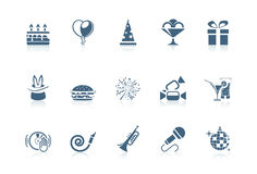 Birthday icons | piccolo series Royalty Free Stock Image