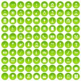 100 birthday icons set green. 100 birthday icons set in green circle isolated on white vectr illustration vector illustration