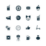 Birthday icons set Stock Image
