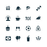 Birthday icons set Stock Photography