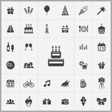 Birthday icons universal set. For web and mobile Stock Photo