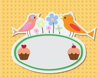 Birthday illustration card Royalty Free Stock Photos