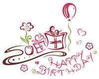 Birthday illustration Royalty Free Stock Image