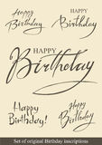 Birthday inscriptions Royalty Free Stock Photos