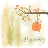 Birthday invitation royalty free illustration