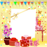 Birthday invitation Royalty Free Stock Images