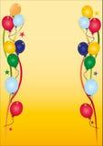 Birthday invitation. Illustrated birthday invitation with a lot of balloons Royalty Free Illustration