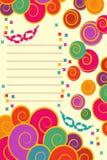 Birthday invitation card. With an ail balls Royalty Free Stock Photos