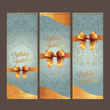 The Birthday and invitation card with colorbackground vector design Stock Image