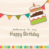 Birthday Invitation card design. Royalty Free Stock Photography