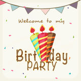 Birthday Invitation card design. Royalty Free Stock Photos