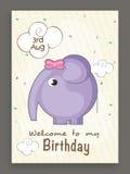 Birthday invitation card design. Stock Photo