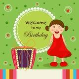 Birthday invitation card . Stock Images