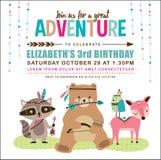 Birthday invitation card Stock Photography