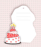 Birthday invitation card  in red Stock Photography