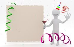 Birthday invitation card Stock Image