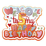 Birthday Invitation. Card - 4 years old Royalty Free Stock Photo