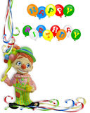 Birthday Invitation Clown Background  Royalty Free Stock Image