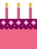Birthday invitation design. Birthday invitation card design with cake and candles Stock Photo