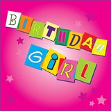 Birthday invitation for a girl Stock Photography