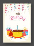 Birthday Invitation or Greeting Card. Stock Images