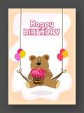 Birthday Invitation or Greeting Card. Stock Photo