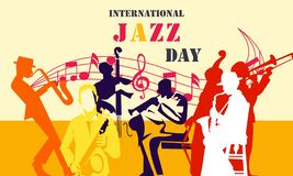 Free Birthday Invitation TeFlat International Jazz Day Background Vectormplate, Birthday Card In Flat Style Stock Images - 178401734