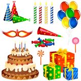 Birthday Items Royalty Free Stock Photos