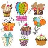 Birthday items collection Stock Image