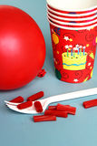 Birthday items Royalty Free Stock Photo