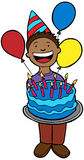 Birthday Kid with Cake Royalty Free Stock Images