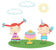Birthday kids Stock Photo
