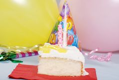 Birthday lemon vanilla cake Stock Image