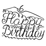 Birthday lettering Royalty Free Stock Photography